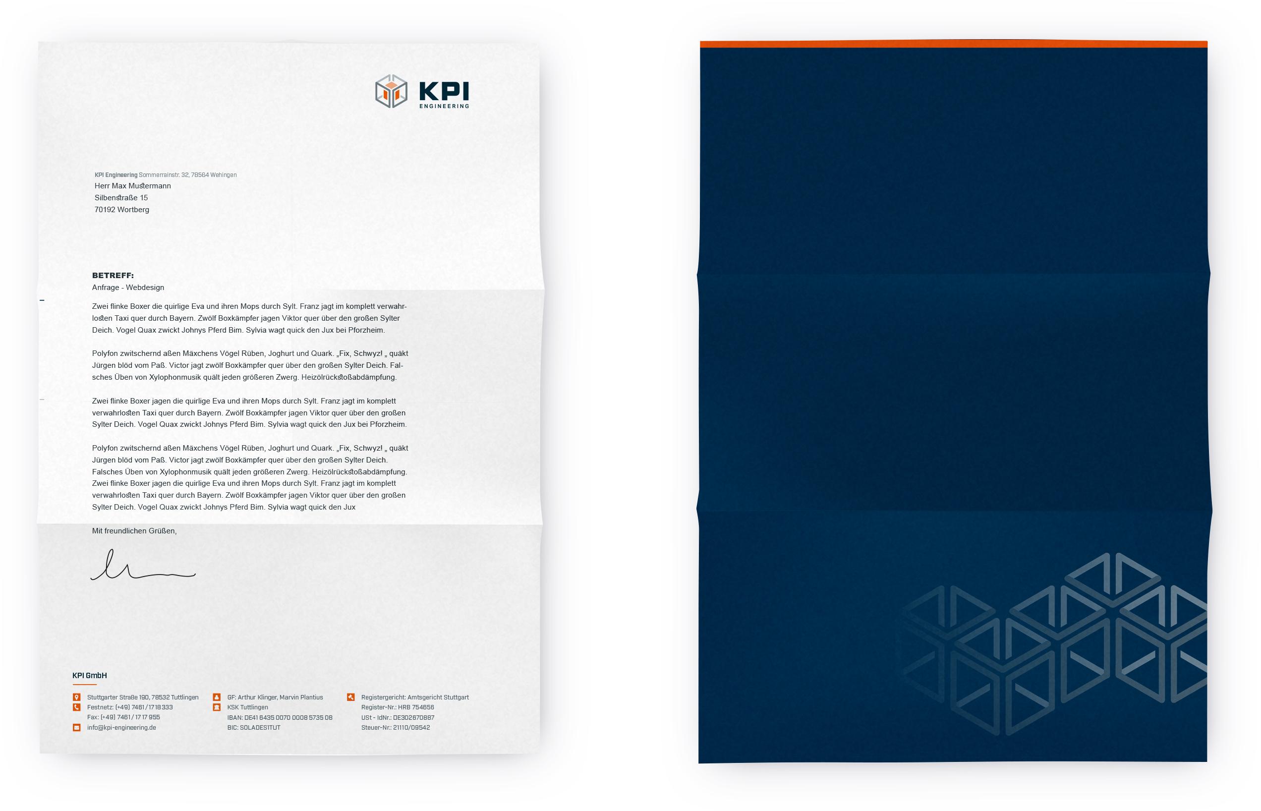 KPI_Geschäftspapier
